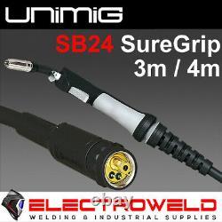 Unimig Sb24 Suregrip Mig Torch 4 Metre Gun Welding Binzel 250amp Euro Connection