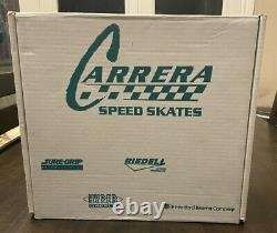 Vintage Carrera Riedell Speed skates Blanc Womans Taille 7 Sure Grip