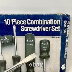 Vintage Sk 10 Piece Combination Screwdriver Set No. 86006 Suregrip Poignées Nouveau