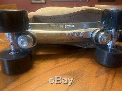 Vintage Sure Grip 1300 Tan Suede Patins À Roulettes Hommes Taille 12 Withsuper X Plate