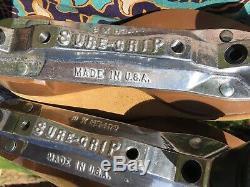Vintage Sure Grip 1300 Tan Suede Patins À Roulettes Pour Hommes Taille 5 Withsuper X Plate