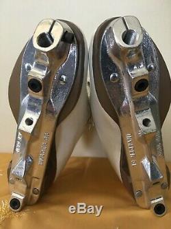 Vintage Sure Grip 93 Hommes Taille 5 Blanc Rouleau En Cuir Skate Boot Withsure Grip Inv