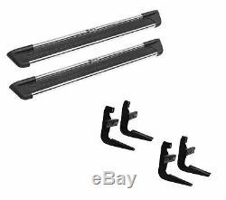 Westin Sure-grip Black / Silver Marchepieds Et Kit De Montage Pour 02-06 Honda Cr-v